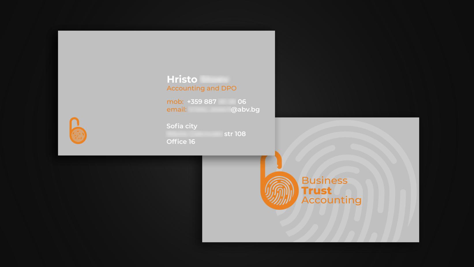 BTA business card