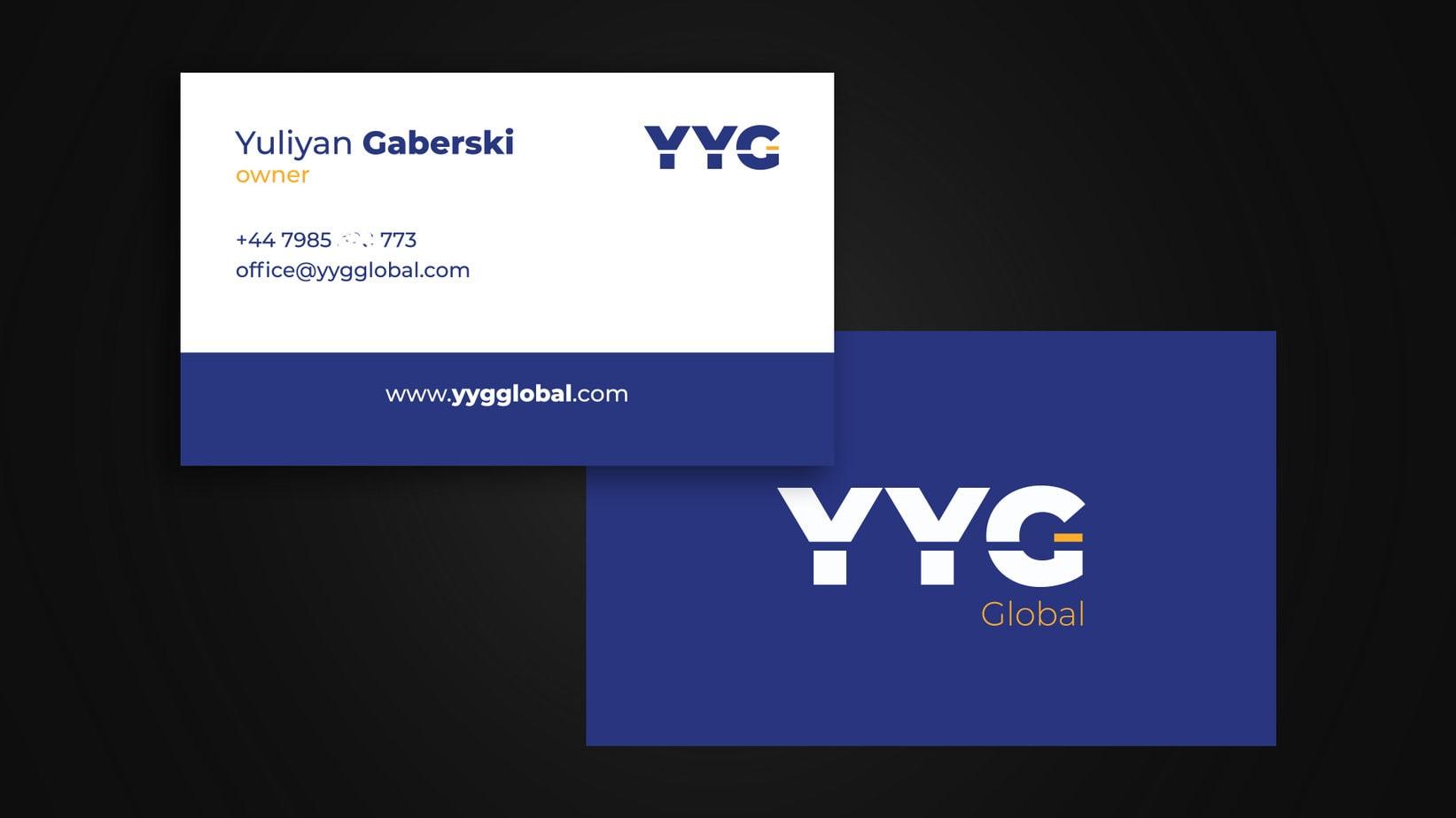 YYG Global business cards